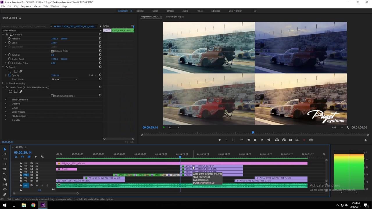 Premiere Pro CC 2017 1 2 CPU Performance: Core i9 7940X