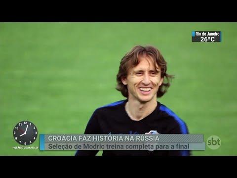 Croácia chega à final com chances de ter o melhor jogador do Mundial | SBT Brasil (14/07/18)