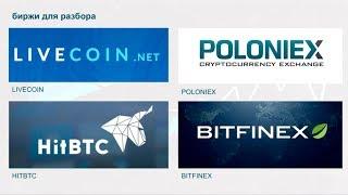 детальный обзор бирж Livecoin, HitBTC, Bitfinex