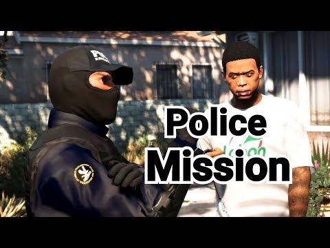 GTA 5 Mission - Police Franklin and Police Trevor Fighting Drug Cheaters with Lamar