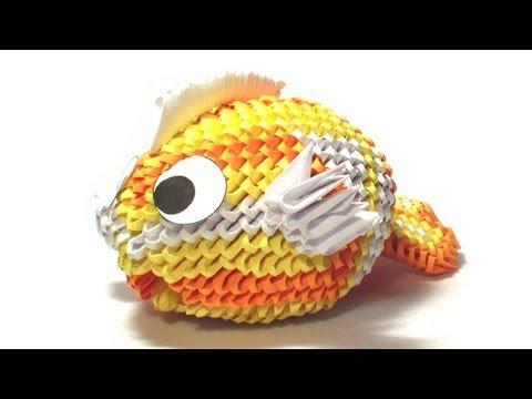 Quadro tramonto origami 3d emilio doovi for Como criar peces koi