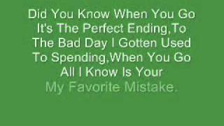 Sheryl Crow-My Favorite Mistake (Lyrics)