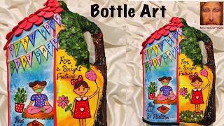 Bottle art with lock down message