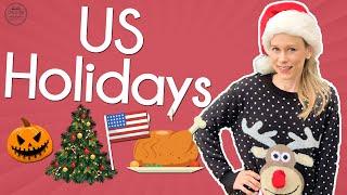 U.S. National Holidays | Learn American Holidays | English with Jackie