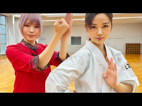 伝統空手女子が太極拳!新たな武術が生まれる?Karate Girl meets Taichi and New Martial arts is born!