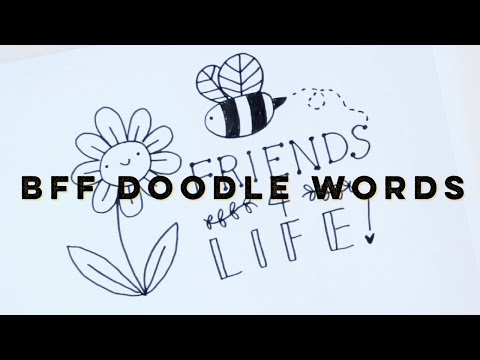 Best Friends Doodle Words | Doodles by Sarah