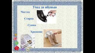 Уход за одеждой и обувью их хранение урок 2