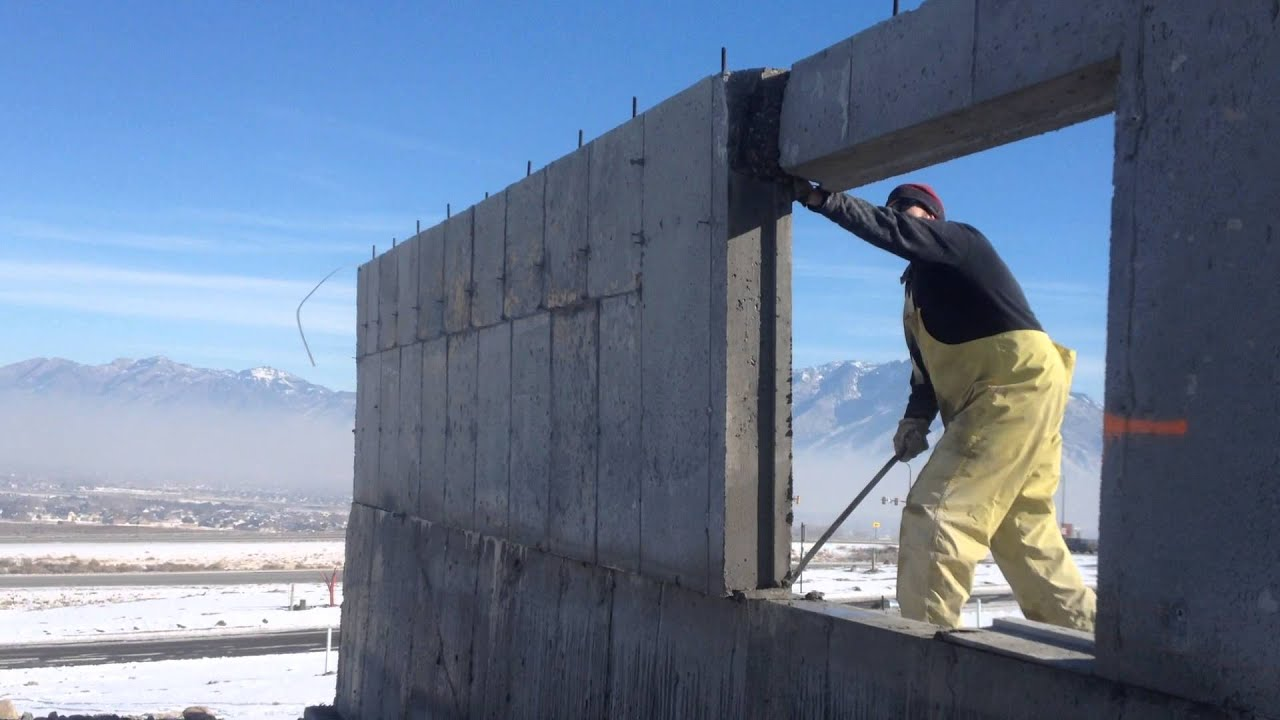 With Concrete Saw Cutting Into Walls : Tipping a wall saw jockey concrete cutting salt lake