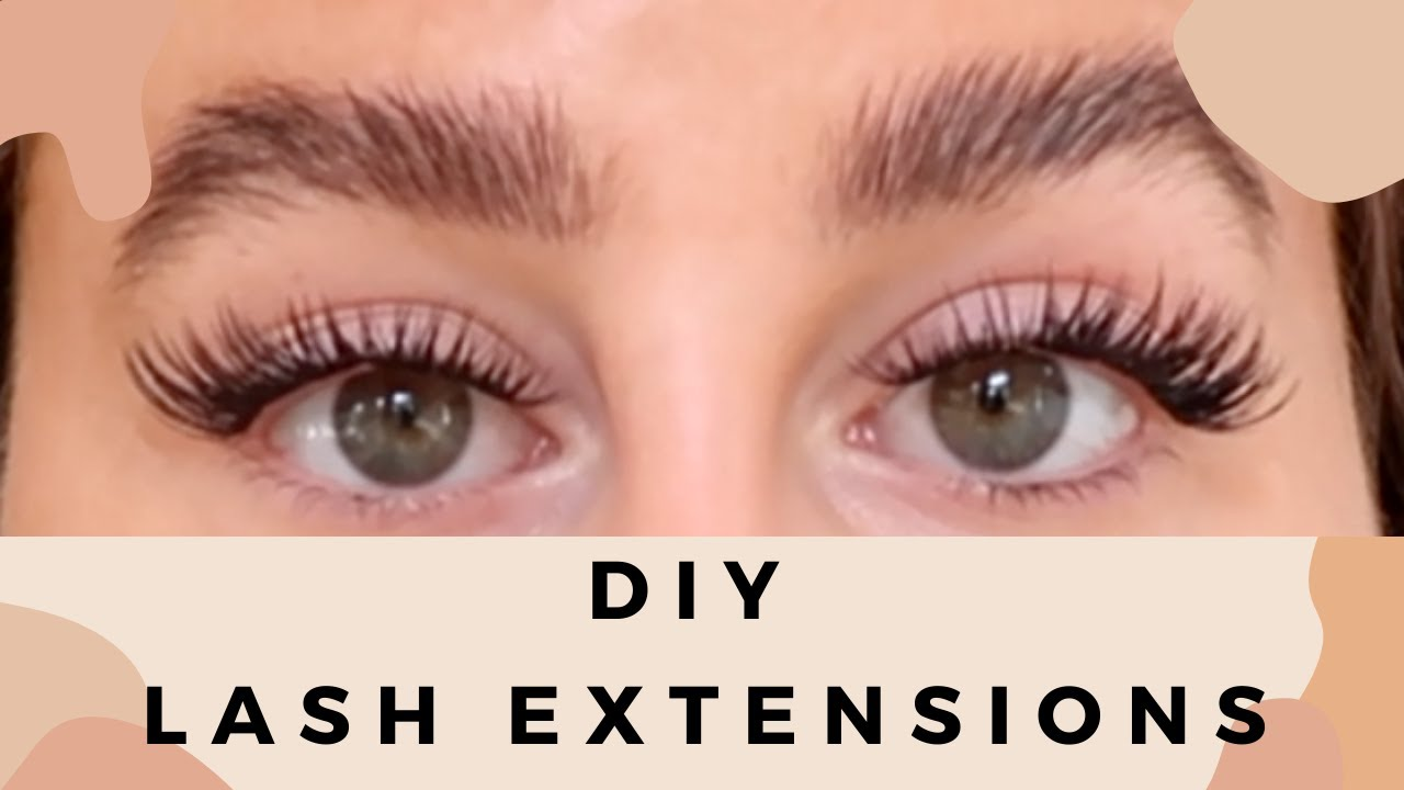 DIY AT HOME LASH EXTENSIONS? - YouTube