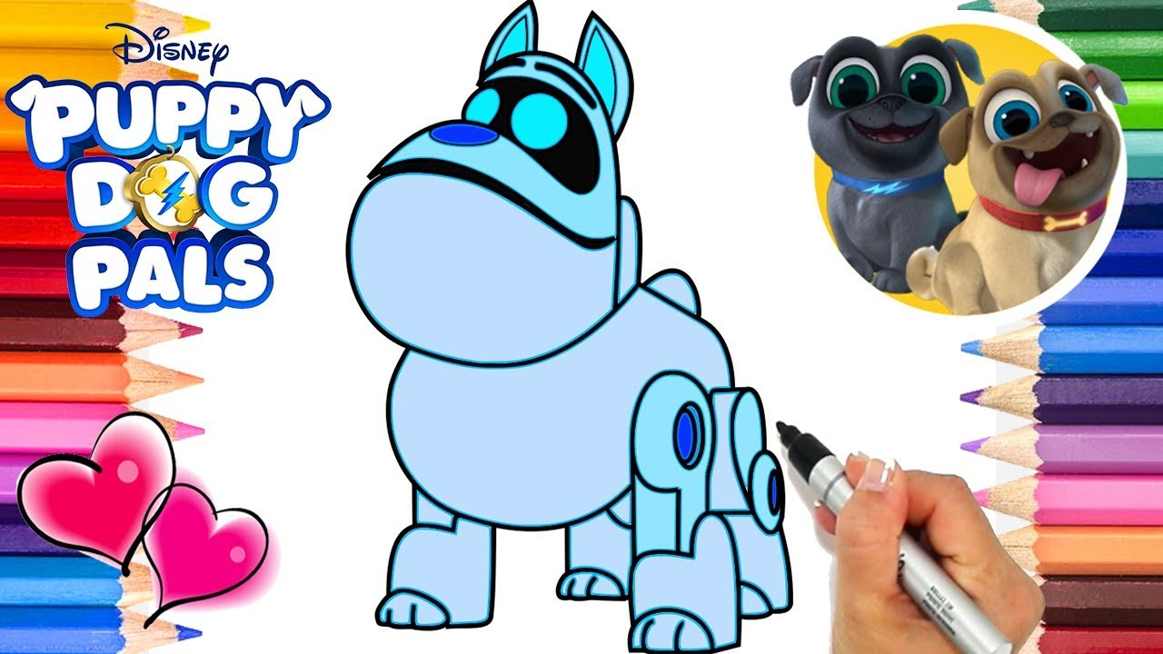 Puppy Dog Pals A R F Coloring Page Puppy Dog Pals Coloring Book
