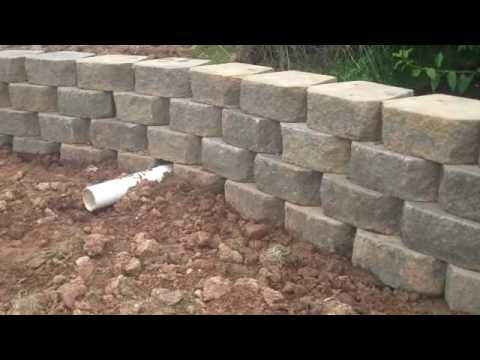 Chris orser landscaping brick wall retaining wall for Landscaping bricks