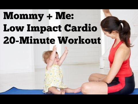 Mommy and Me Low Impact Cardio | 20-Minute Postnatal Workout for Mom and Baby
