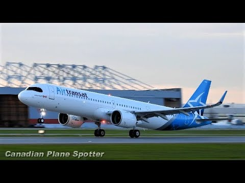 (First in North America!) Air Transat A321neo LR Takeoff at Montreal-Trudeau Airport (YUL)