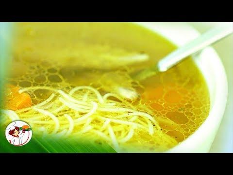 Прозрачный куриный суп с лапшой. Очень вкусно и красиво!