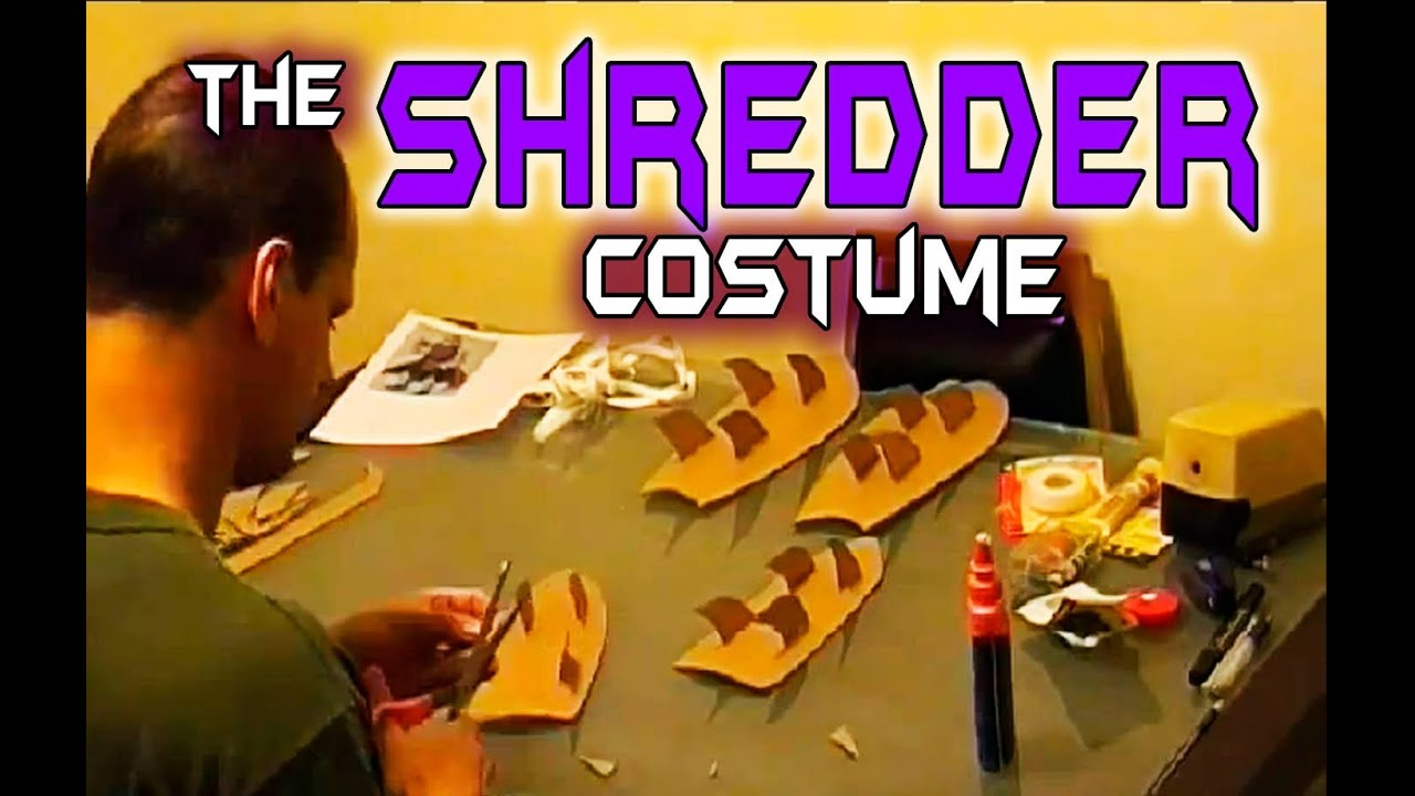 making the shredder costume youtube