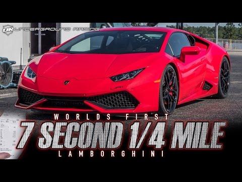 Underground Racing TT Lamborghini Huracan - 7.80 1/4 Mile Pass - World's First!