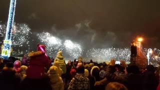 Салют 30.12.2016 г. Аэрофлот с Дворцовой наб. после светового шоу  1-я часть