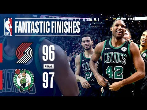 Down To The Buzzer Action! The Boston Celtics vs The Portland Trail Blazers