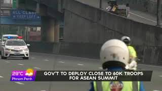 Gov't to deploy some 60,000 security personnel for ASEAN Summit