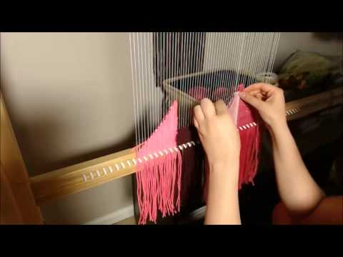 Weaving in Fast Forward - Pink Geometric Wall Hanging