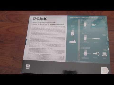 Dlink PowerLine AV Network Starter Kit DHP 307 AV