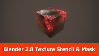 Blender 2.8 Tutorial : Texture Painting with Stencil & Mask