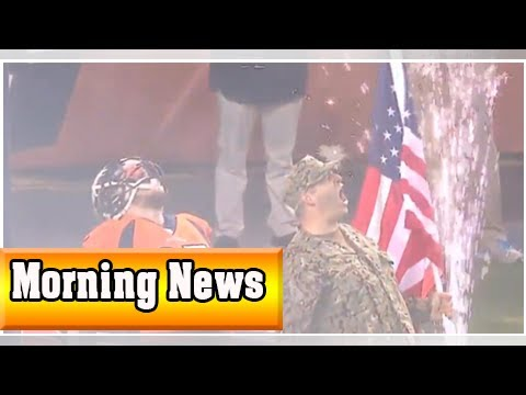 Broncos' derek wolfe runs out of tunnel with brother-in-law navy serviceman prior to game| Morning