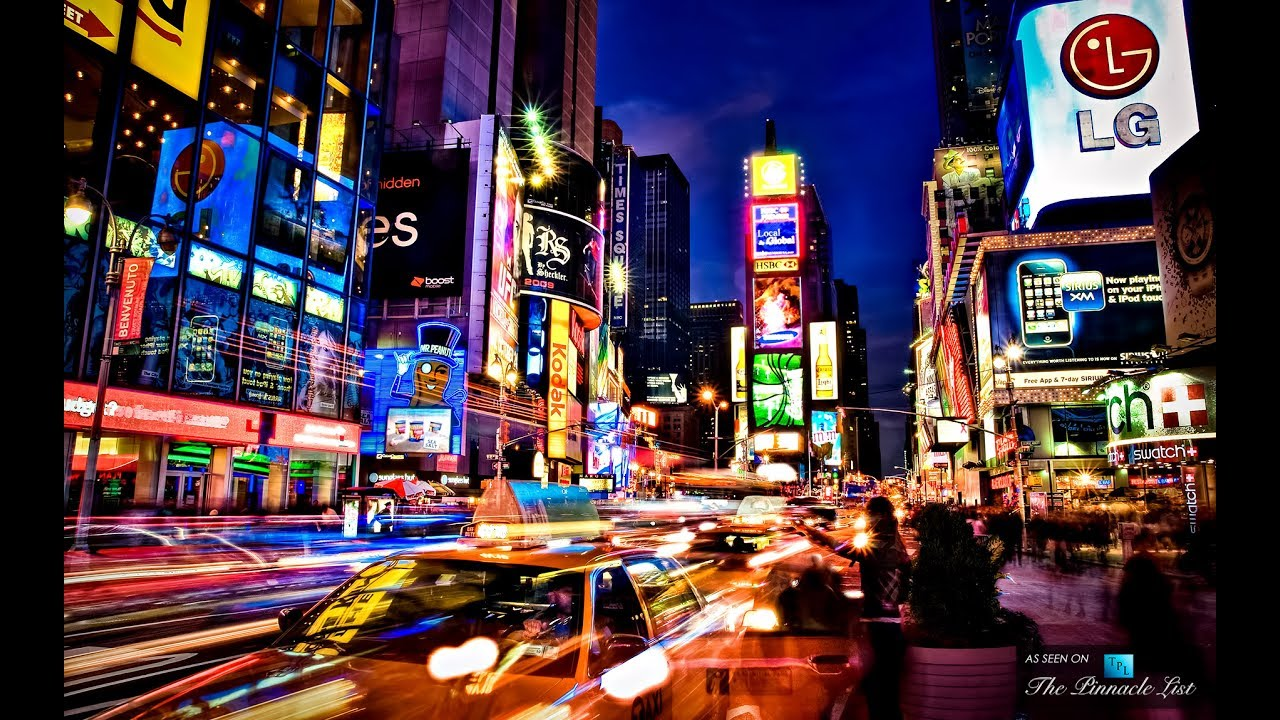 Times Square at Night 4K - YouTube
