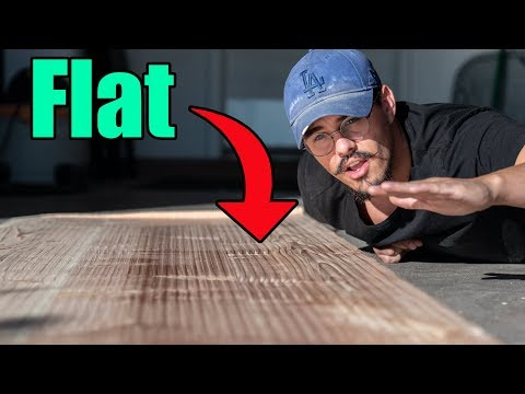 Flattening Our DIY Wood Countertop | Skoolie Build (Ep.6)