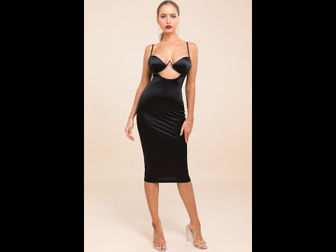 New Slim Sexy Hollow Stretch Adjustable Strap Padded Dress Wholesale Dresses A28211