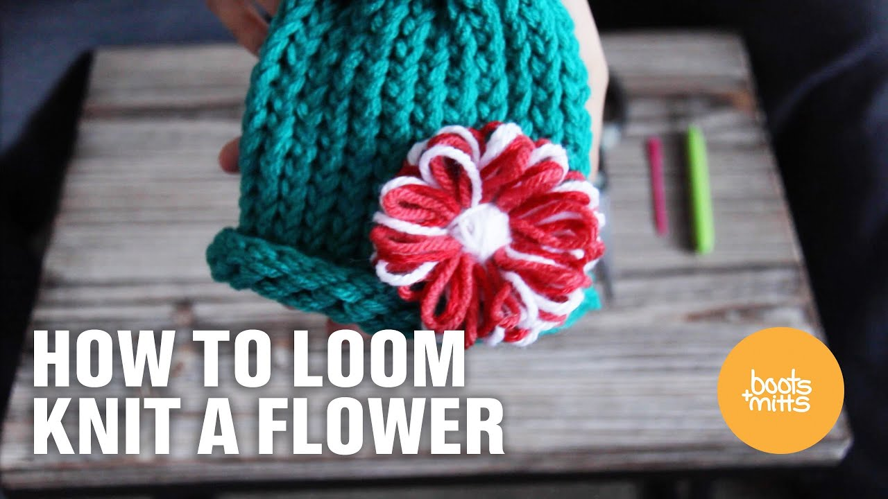 How To Loom Knit A Flower Youtube