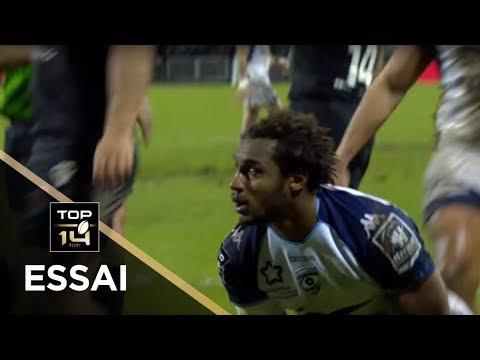 TOP 14 - Essai Benjamin FALL (MHR) - Brive - Montpellier - J14 - Saison 2017/2018
