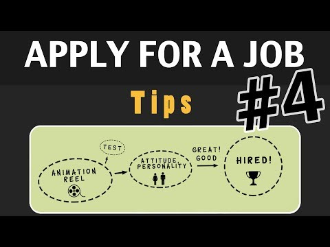 Animation Tips 04 - APPLY FOR A JOB
