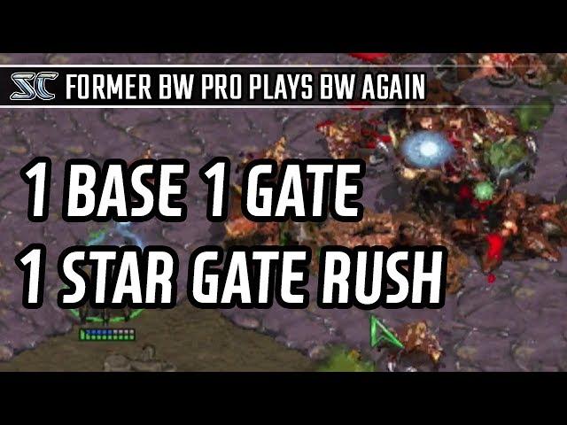 1 Base 1 Gate 1 Starg gate rush in Protoss vs Zerg l StarCraft: Brood War l Crank