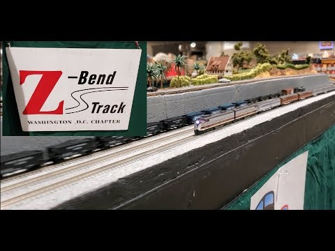 Z Scale Layout during the Great Scale Model Train Show 10 2019