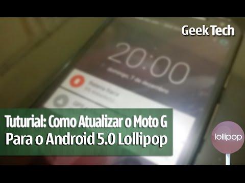 Tutorial: Como atualizar o Moto G (2014) para o Android 5.0 Lollipop
