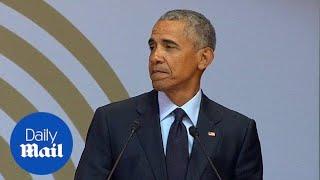 Barack Obama warns of strongman politics and 'racial nationalism' - Daily Mail
