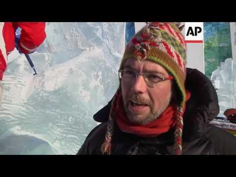 Ice sculptors compete in annual event
