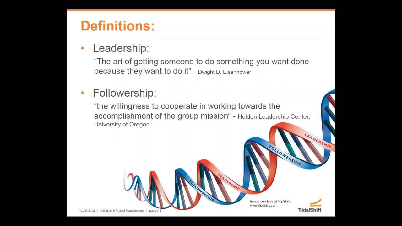 Followership - The Other Half Of Leadership