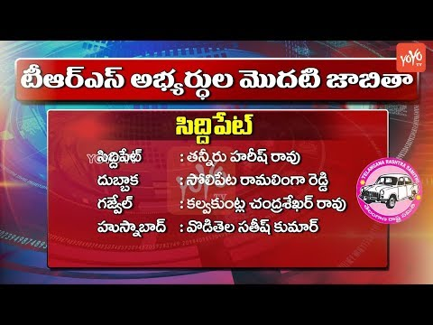 TRS MLA Candidates List Constituency Wise | CM KCR | Early Polls in Telangana | YOYO TV Channel