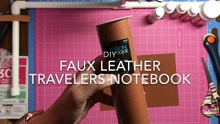 Faux Leather Travelers Notebook