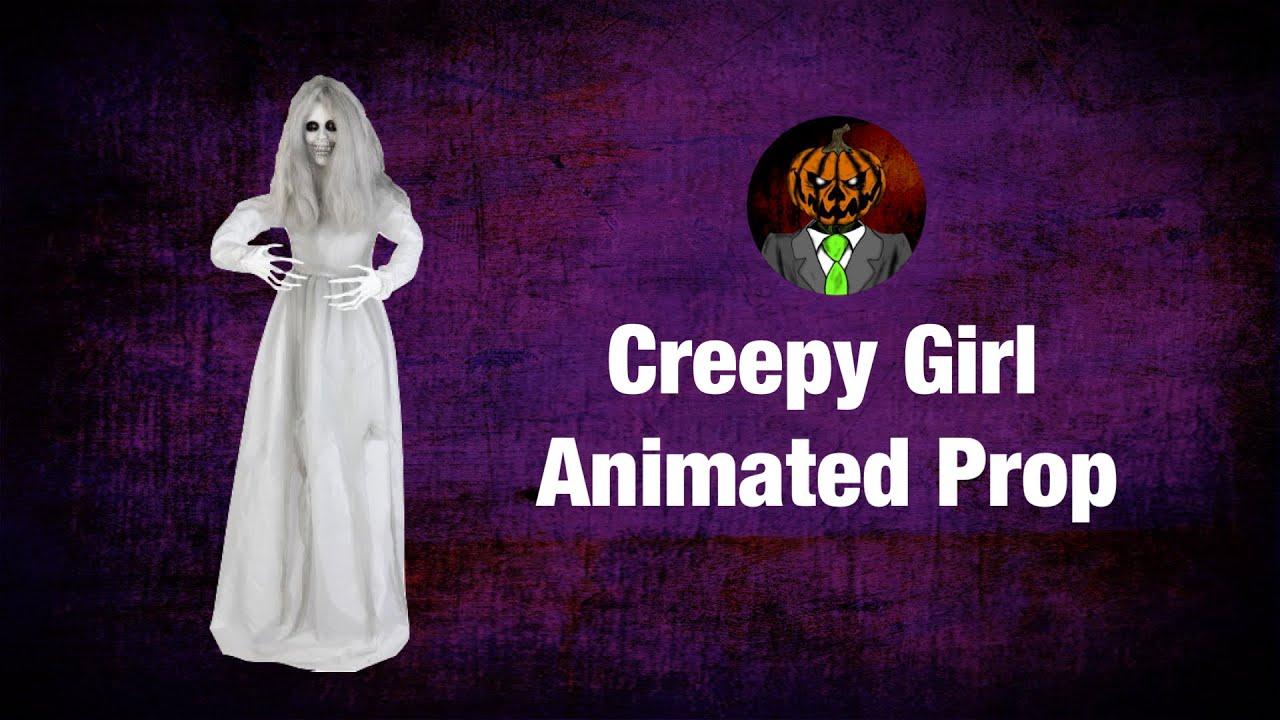 Creepy Girl Animated Prop Demo - Lowe's/Gemmy 2021 Animatronic