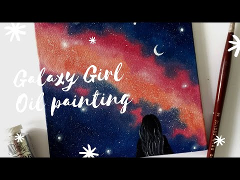 Galaxy Girl Oil Painting | Speed Painting