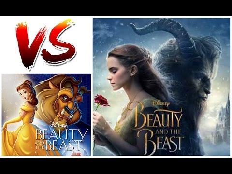 CUAL ES MEJOR? Bella y la Bestia Pelicula vs La Caricatura -COMPARACIÓN-