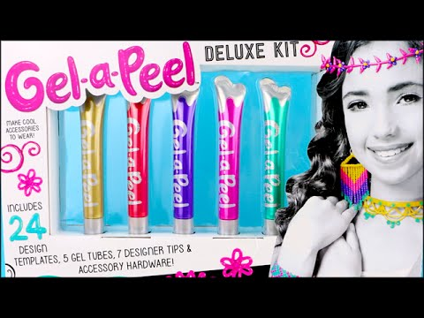 Gel-A-Peel Sparkle Gel Silicone Pens! Deluxe Set DIY Craft Jewelry Maker