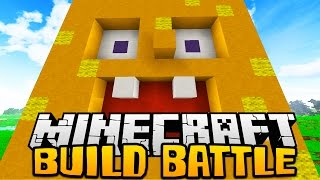 Minecraft SPONGE BOB, MINIONS, PIZZA Build Battle w/ Vikkstar123 and Woofless
