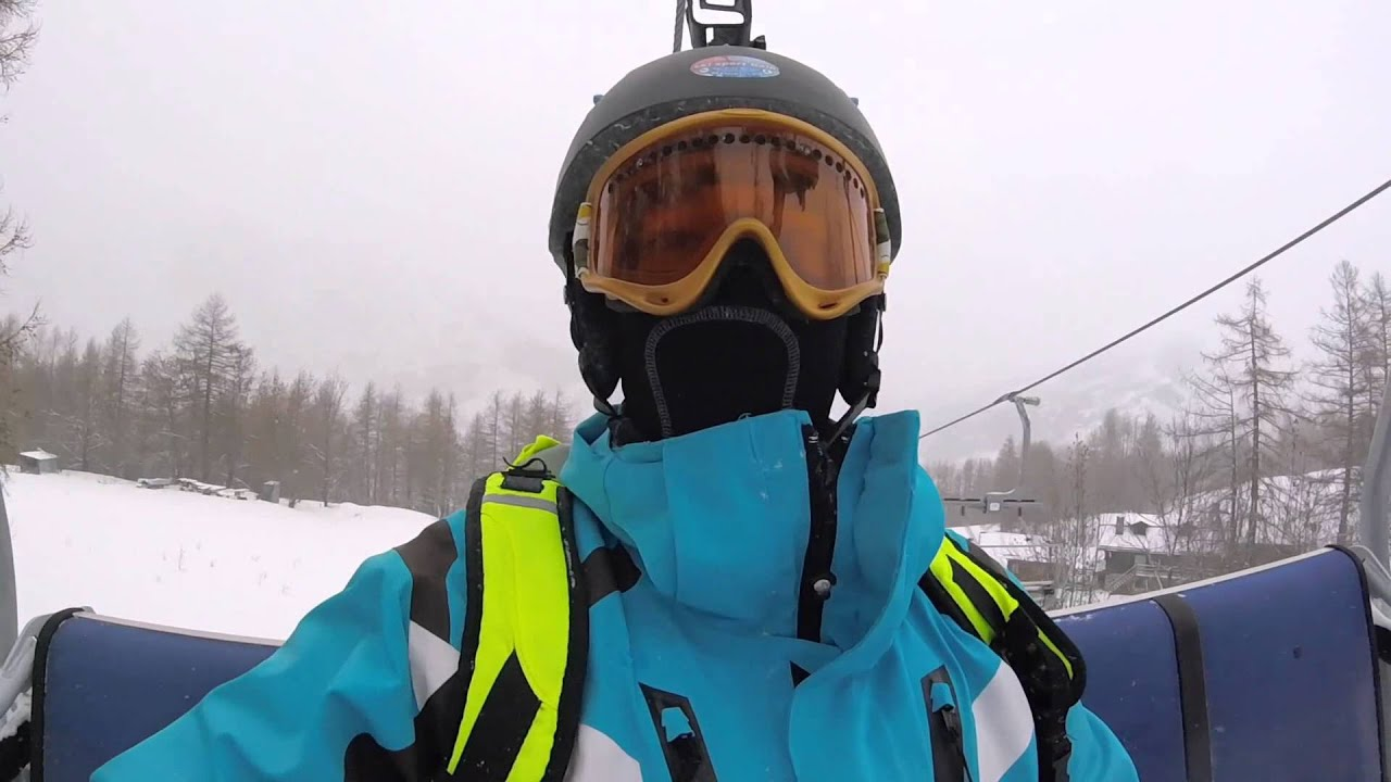 Skiing bardonecchia 2016 - red run 2 - gopro hero4 session