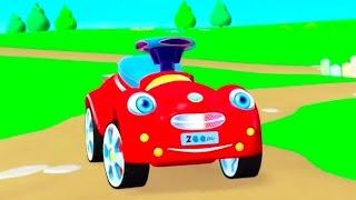 Мультик про Красную Машинку. Учимся считать до 3. Зим Зум.