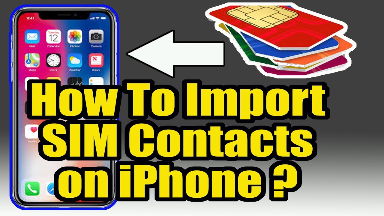 How to copy the sim contacts in iphone