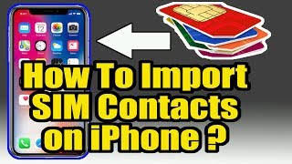 How to import sim contacts on IPHONE 4/4s/5/5s/6/6s/7/7s || Wave Nepal